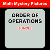 Order of Operations - Math Coloring Worksheets BUNDLE
