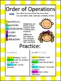 Order of Operations Math Journal Graphic Organizer