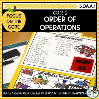 Order of Operations: Math Learning Bundle