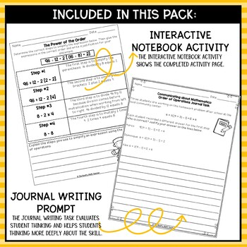 Order of Operations- Math Center Activity and Printables Pack
