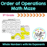 Order of Operations Math Maze