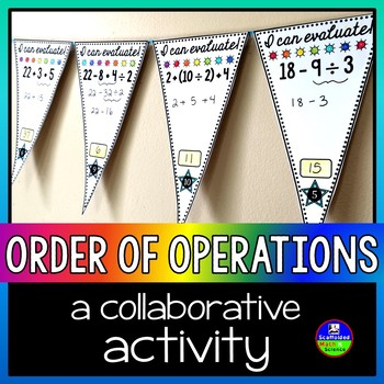 Order of Operations Math Pennant for younger kids