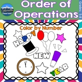 Order of Operations Math Practice   New Years Color by Number