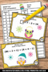 Order of Operations Math Task Cards Winter Owls Theme 5th