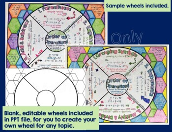 Order of Operations Math Wheel - Note-taking Format