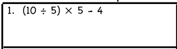 Order of Operations Math Worksheet