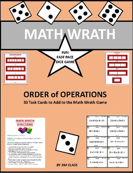 Order of Operations Math Wrath Game