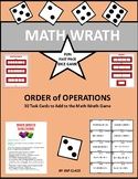 Order of Operations Math Wrath Game- No Exponents