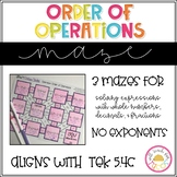Order of Operations Maze 5.4F