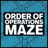 Order of Operations - Math Maze (5.OA.A.1)