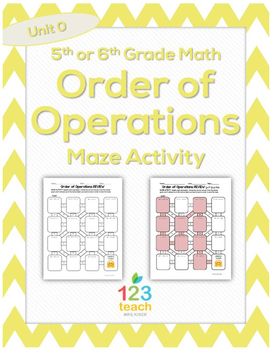 Order of Operations Maze Activity Worksheet