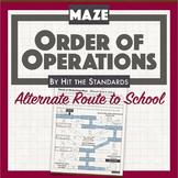 Order of Operations Maze - Alternate Route to School math activity PEMDAS