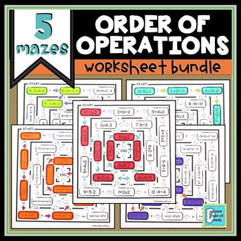 Order of Operations Worksheet Bundle
