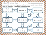 Order of Operations Maze (with Exponents)