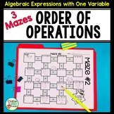 Order of Operations Mazes - Differentiated