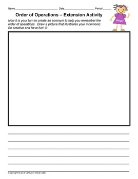 Order of Operations-Notes on Foldable & Printable Assignment-Middle School Math