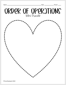 Order of Operations (Mini Heart Puzzle)