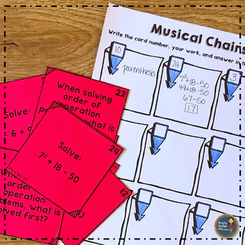 Order of Operations Musical Chairs