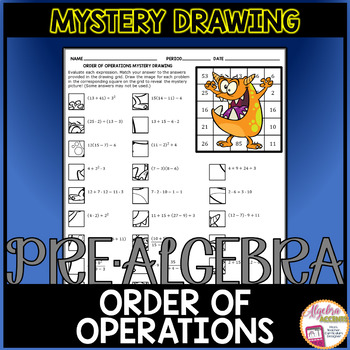 Order of Operations Mystery Drawing