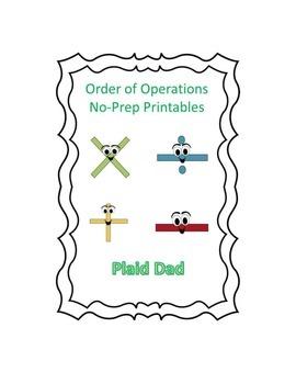 Order of Operations No-Prep Printables