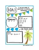 Order of Operations Notebook Page