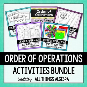 Order of Operations Notes and Activities Bundle