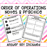 Order of Operations Notes & Guided Practice