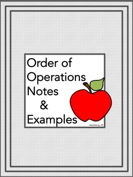 Order of Operations Notes and Examples