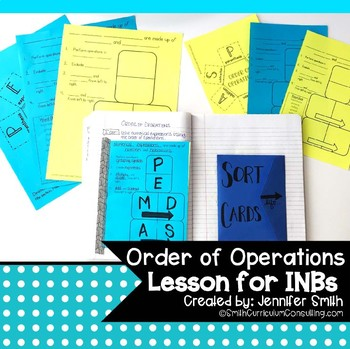 Order of Operations Lesson for Interactive Notebooks | Foldable Lesson