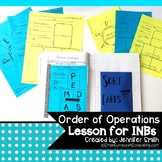 Order of Operations Lesson for Interactive Notebooks