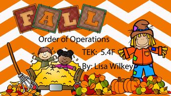 Order of Operations - Number Tiles - TEK 5.4F