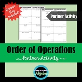Order of Operations - Numerical Expressions - Partner Activity