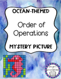 Order of Operations OCEAN THEMED Mystery Picture FREEBIE