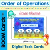 Order of Operations Ocean Themed BOOM Cards!