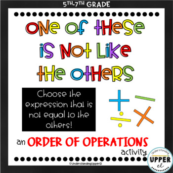 Order of Operations - One of These is Not Like the Others!