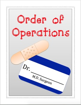 Order of Operations Operating Room (Editable)