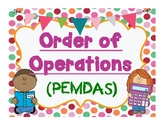 Order of Operations   ( PEMDAS )