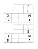 Order of Operations (PEMDAS) Foldable
