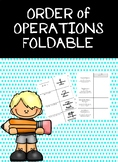 Order of Operations PEMDAS Foldable with Examples