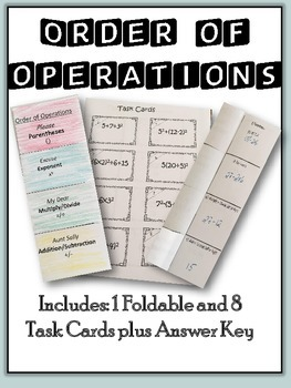 Order of Operations: Task Cards and Foldable
