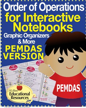 Order of Operations - PEMDAS - Interactive Notebook, Worksheets, & More