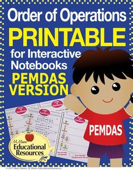 Order of Operations - PEMDAS - Printable & More!