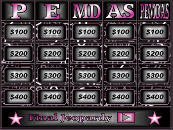 It is a picture of Accomplished Order of Operations Game Printable