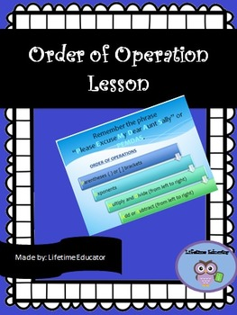 Order of Operations (PEMDAS Lesson)