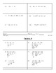 Order of Operations (PEMDAS) Partner A & B Worksheet