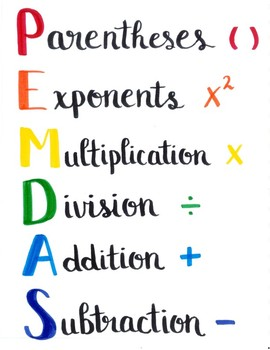 order of operations pemdas sign by jacy schrougham tpt