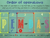 Order of Operations-PEMDAS-Poster
