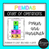 Order of Operations- PEMDAS Posters and Handouts