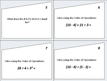 Order of Operations (PEMDAS) - Quiz, Quiz, Trade