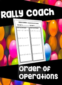 Order of Operations PEMDAS Rally Coach